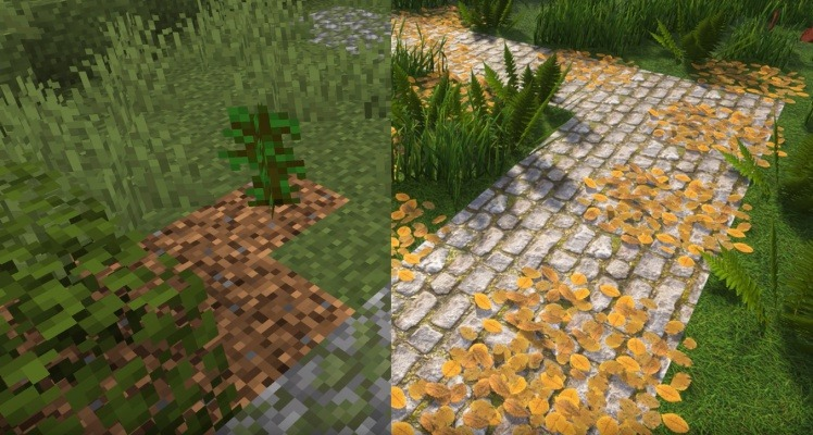Optifine Graphics Comparation 1
